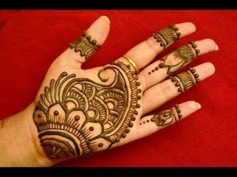 Front hand mehndi design