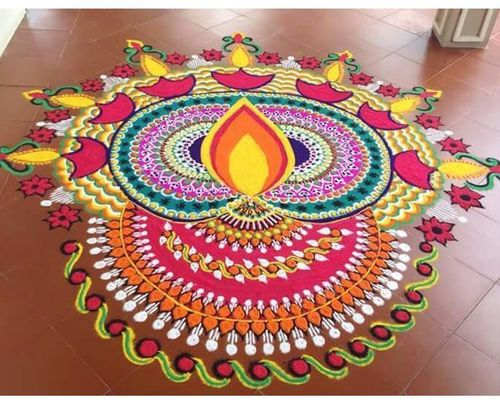 Indian rangoli patterns