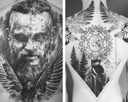 mens back tattoo designs