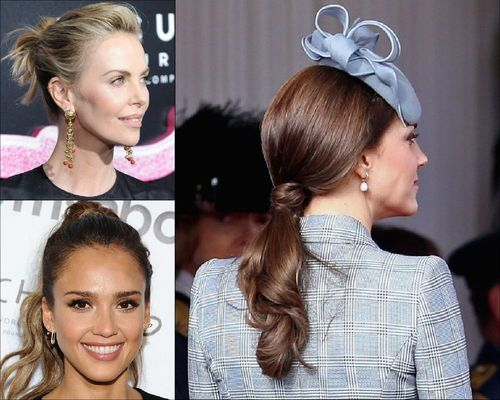 Charlize Theron, Jessica Alba and Kate Middleton Ponytail Hairstyle-06