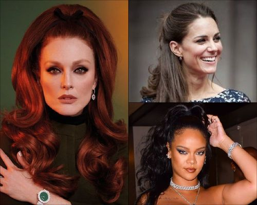 Julianne Moore, Kate Middleton and Rihanna Half-up, Hald-down hairstyle-08