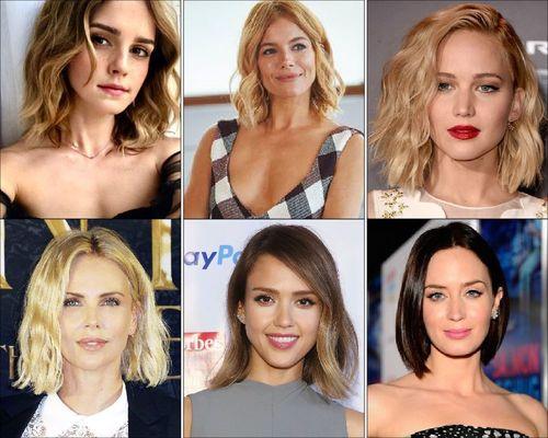 Emma Watson, Sienna Miller, Jennifer Lawrence, Charlize Theron, Jessica Alba and Emily Blunt Shoulder Grazing Bob-18