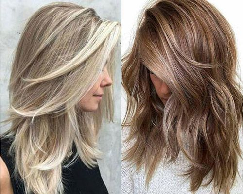 Mid-length layered hair