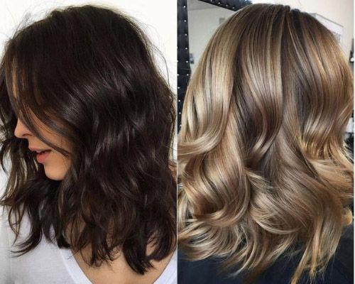 Shoulder lengh layered hair
