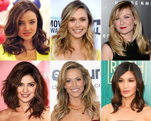 Celebrities with medium hairstyles