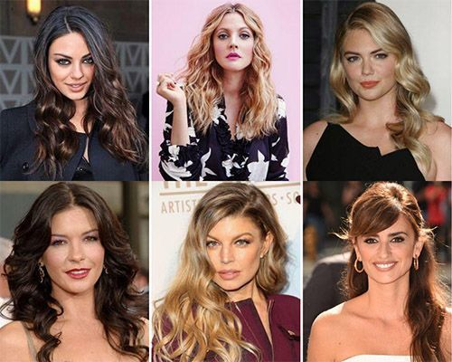 Celebrities with long hairstyles