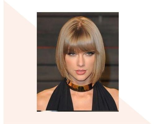 Short Ombre with Blunt Bangs