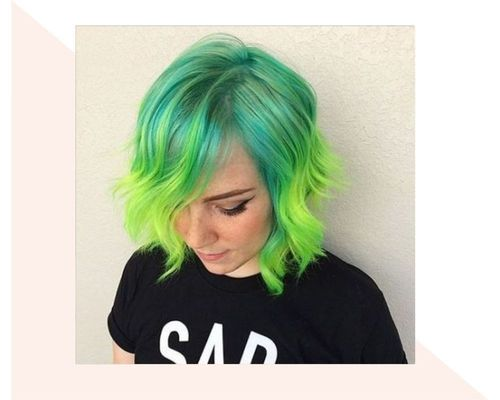 Short Green Ombre