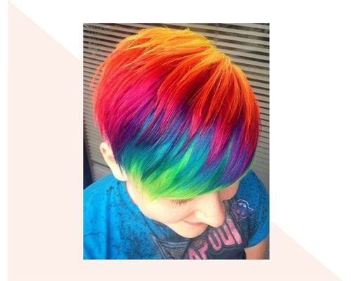 Short Rainbow Ombre
