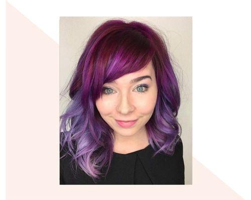 Short Purple to Magenta Ombre