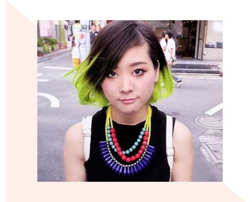 Short Lime Green Ombre