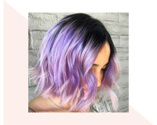 Short Lavender Ombre
