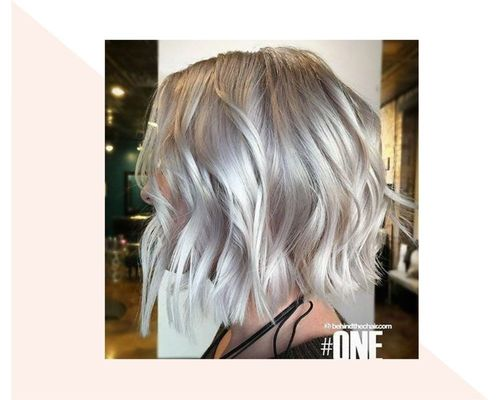 Short Blonde to Platinum Ombre