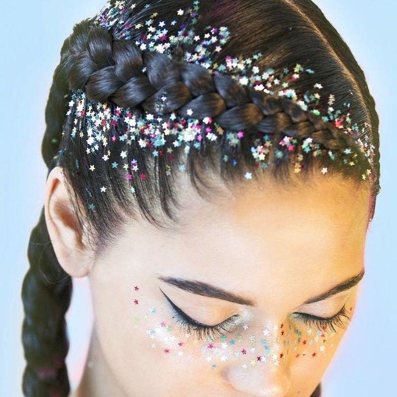 sparkling hair
