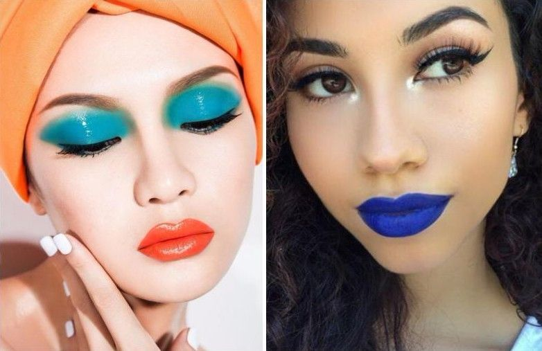 multi colored lips