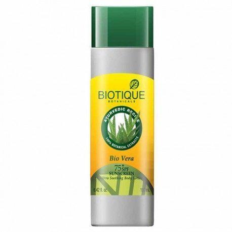 3- Biotique bio vera face and body sun lotion SPF 75+