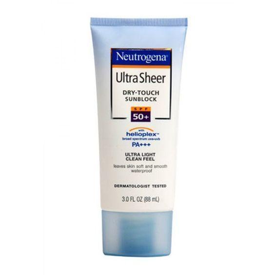 5- Neutrogena ultra sheer dry touch sunblock SPF 50+