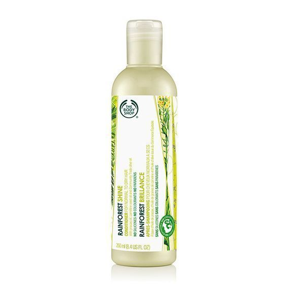 3- The body shop rainforest shine shampoo