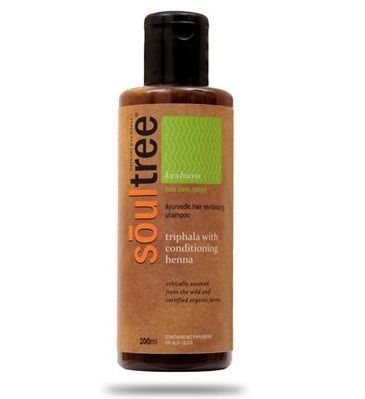 5- Soultree triphala revitalizing shampoo with henna and shikakai