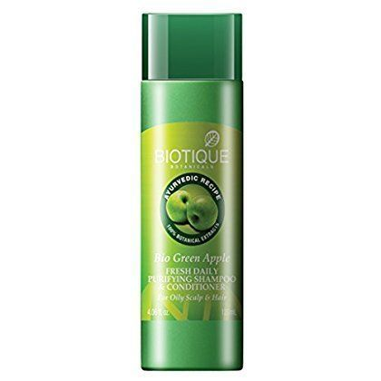 6- Biotique green apple fresh purifying daily apple shampoo and conditioner