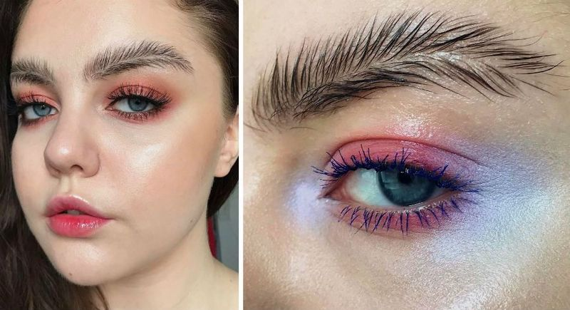 feathery brows