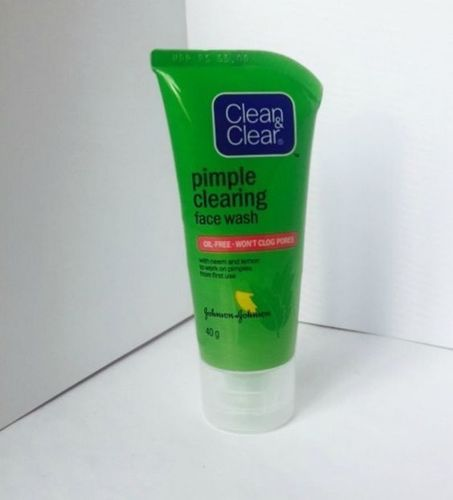 8- Clean and clear pimple clearing face wash