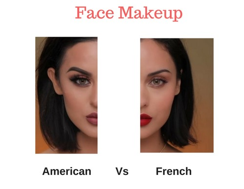 American Vs French makeup