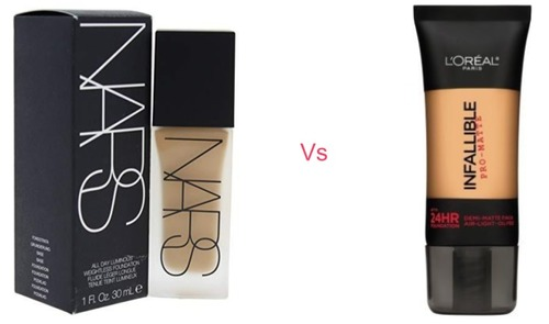 NARS All Day Luminous Weightless Foundation vs L'Oreal Paris Infallible Pro-Matte Foundation