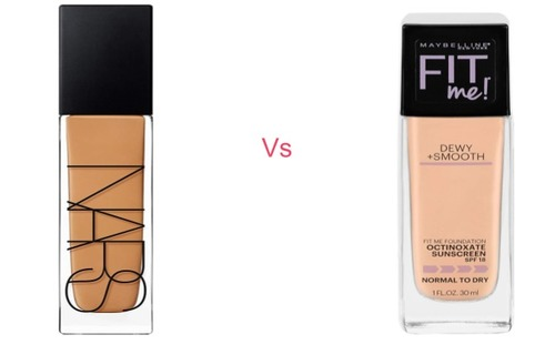 NARS Natural Radiant Longwear Foundation vs Maybelline Fit Me: Dewy & Smooth