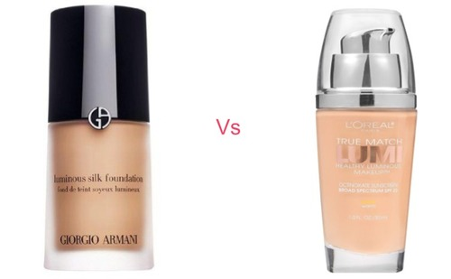 Giorgio Armani Luminous Silk Foundation vs L'Oreal True Match Lumi Healthy Luminous Makeup