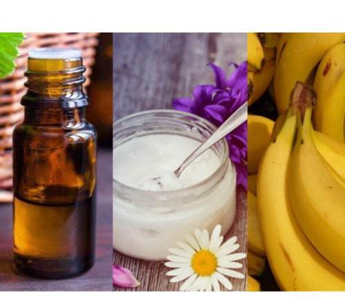 coconut oil and frankincense oil and banana