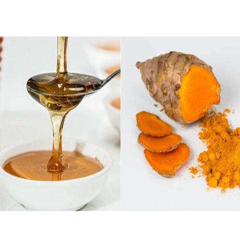 Honey and turmeric mask