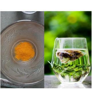 Green tea and turmeric mask