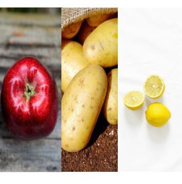 Apple potato lemon mask