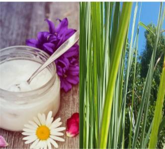 Coconut oil and lemongrass mask