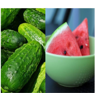 Cucumber and watermelon mask