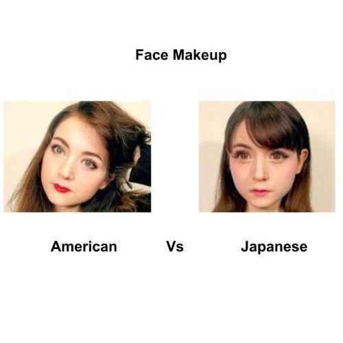 American-Vs-japanese-face-makeup