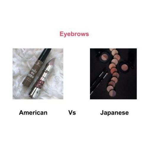 Eyebrows-american-vs-japanese-makeup