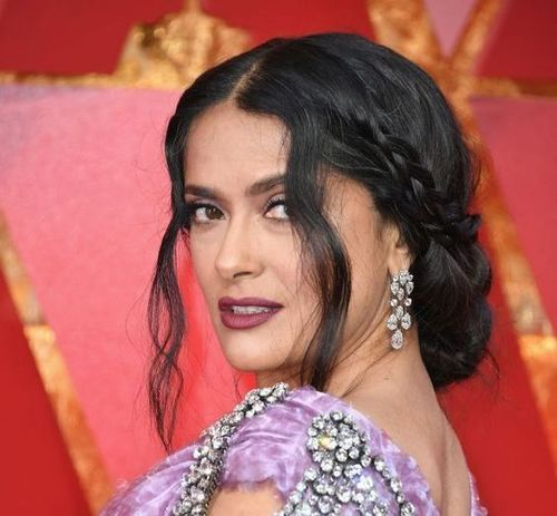 Salma-hayek-braided-hairstyle