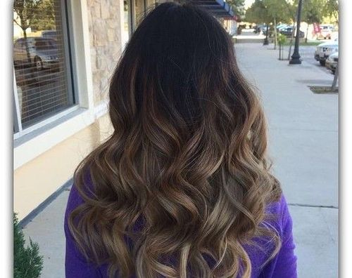 Long Brunette With Soft Highlights