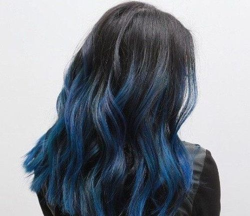 Blue and Green Balayage Hair