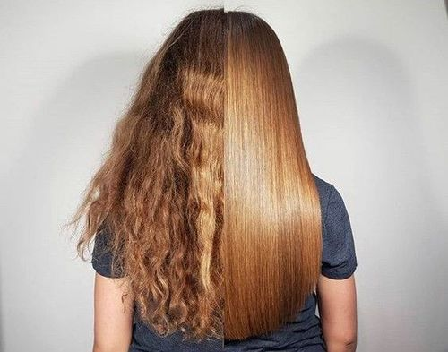 Cysteine hair treatment- before-and-after