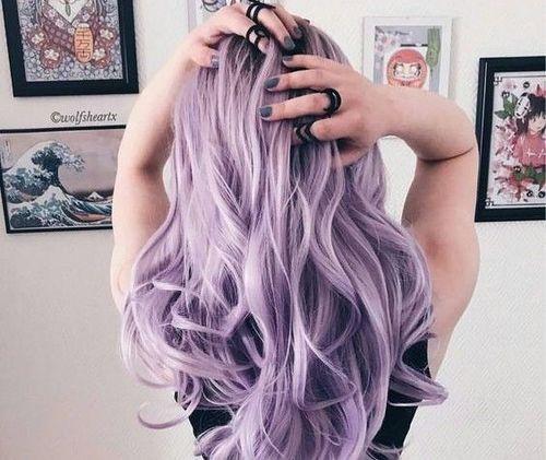 Lilac Coloured Hair