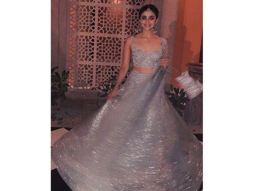 Alia-bhatt-Silver-Lehenga-look