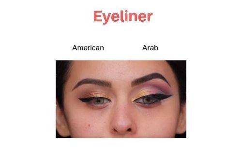 American-Vs-Arab-Makeup-Eyeliner