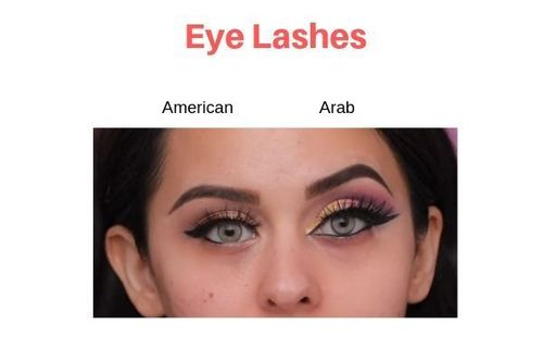 American-Vs-Arab-Makeup-Eyelashes
