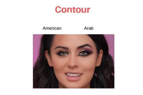 American-Vs-Arab-Makeup-Contour