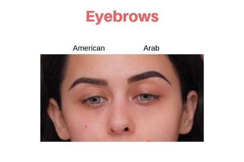 American-Vs-Arab-Makeup-Eyebrows