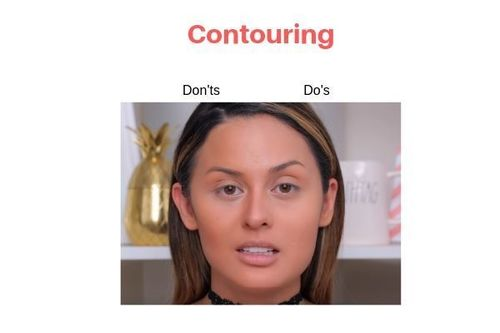 Contour Do's And Don'ts