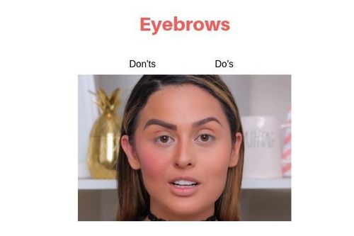 Eyebrows Do's And Don'ts